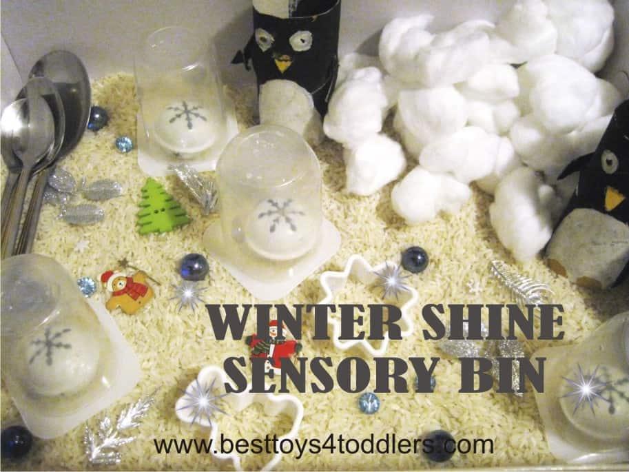 Winter Shine Sensory Bin - day 2 of #31DaySensoryPlayChallenge