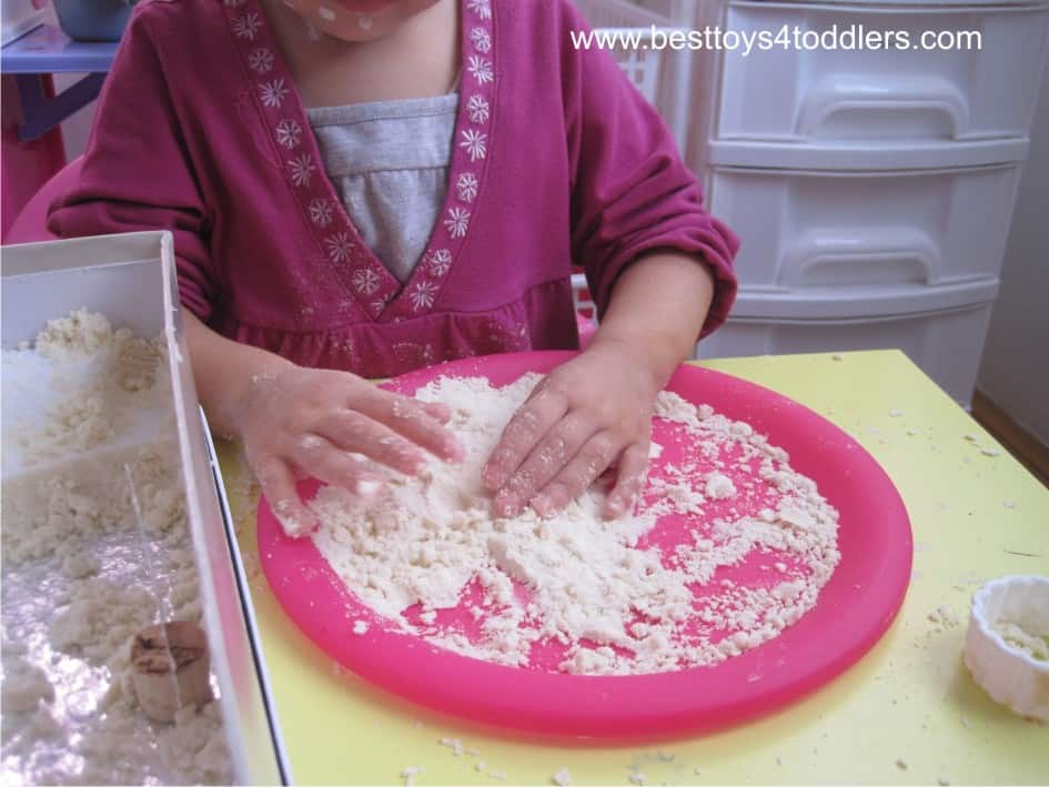 Jelly Cherry Pie - with cloud dough crust - sensory and pretend play activity for toddlers and olde