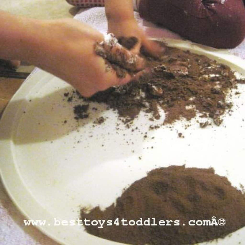 Mixing Cocoa Drink and Shaving Foam