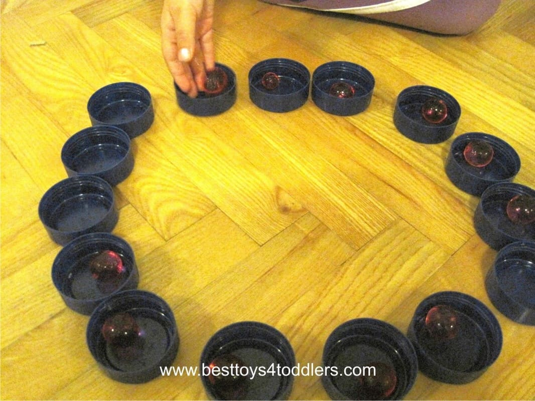 Water Bead Slide - simple sensory game with water beads