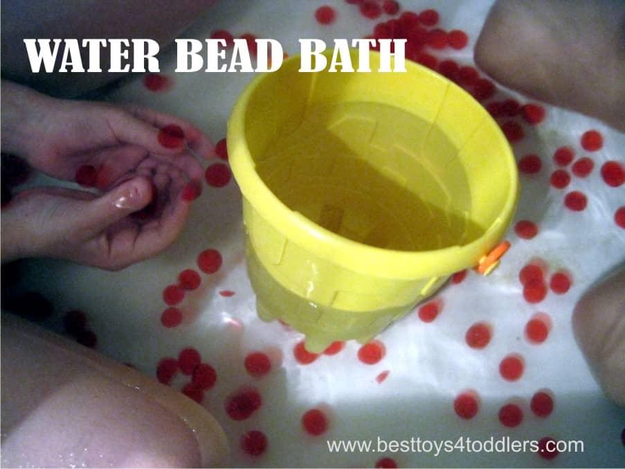 Water Bead Bath - sensory play in a bathtub