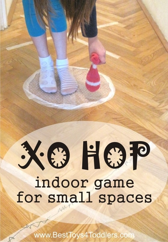 XO Hop - indoor game for small spaces - combination of jumping school and tic-tac-toe game #grossmotor #energyburners #indoorgame #jumpinggame