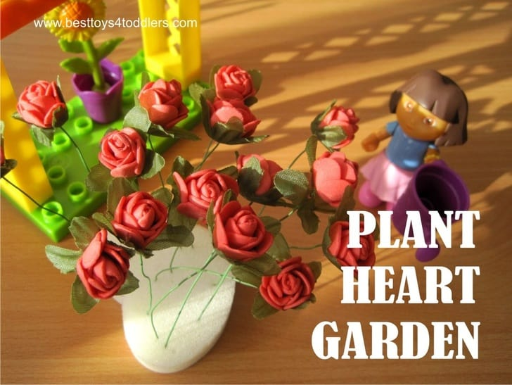 Plant a Heart Garden Busy Bag for Valentine's day with toddlers