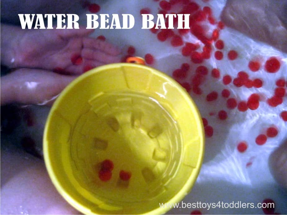 Water Bead Sensory Play in a Bath