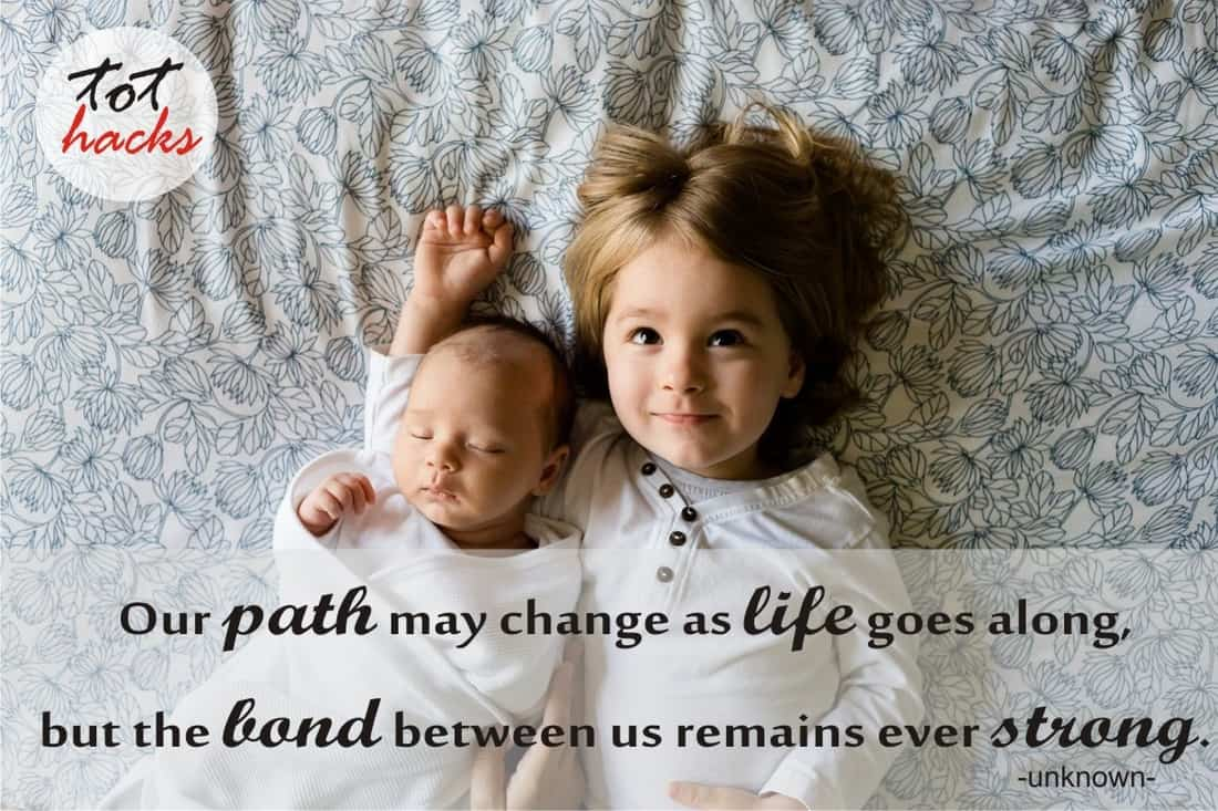 Siblings Quote - Our path may change as life goes along, but the bond between us remains ever strong.