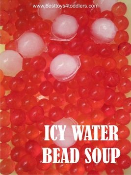 Icy Water Bead Soup - with an experiment on a side