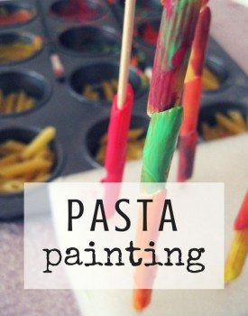 Pasta Painting with Toddlers