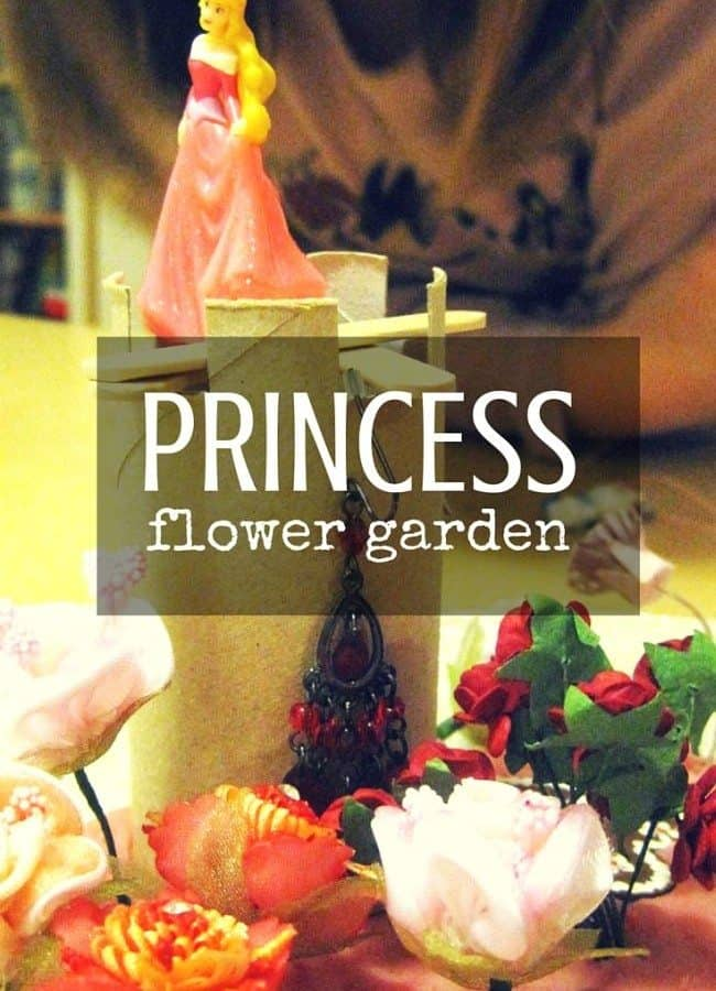 Mix up the items you already have at home and create unique sensory experience with flower garden for DIsney's Princesses!