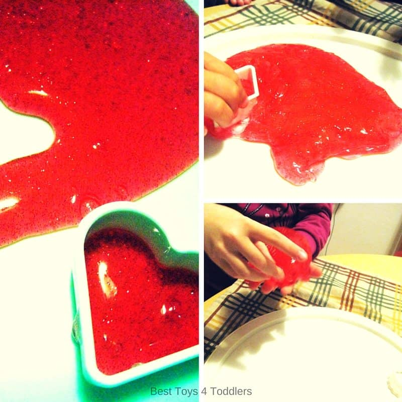 Best Toys 4 Toddlers - Adding fine motor practice to sensory play with slime using cookie cutters.