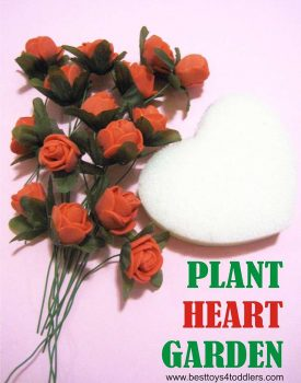 Best Toys 4 Toddlers - Plant a Heart Garden busy bag activity for toddlers and preschoolers.