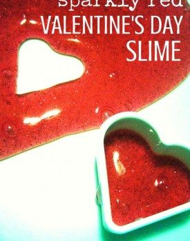 Sparkly Red Valentine's Day Slime Sensory Play