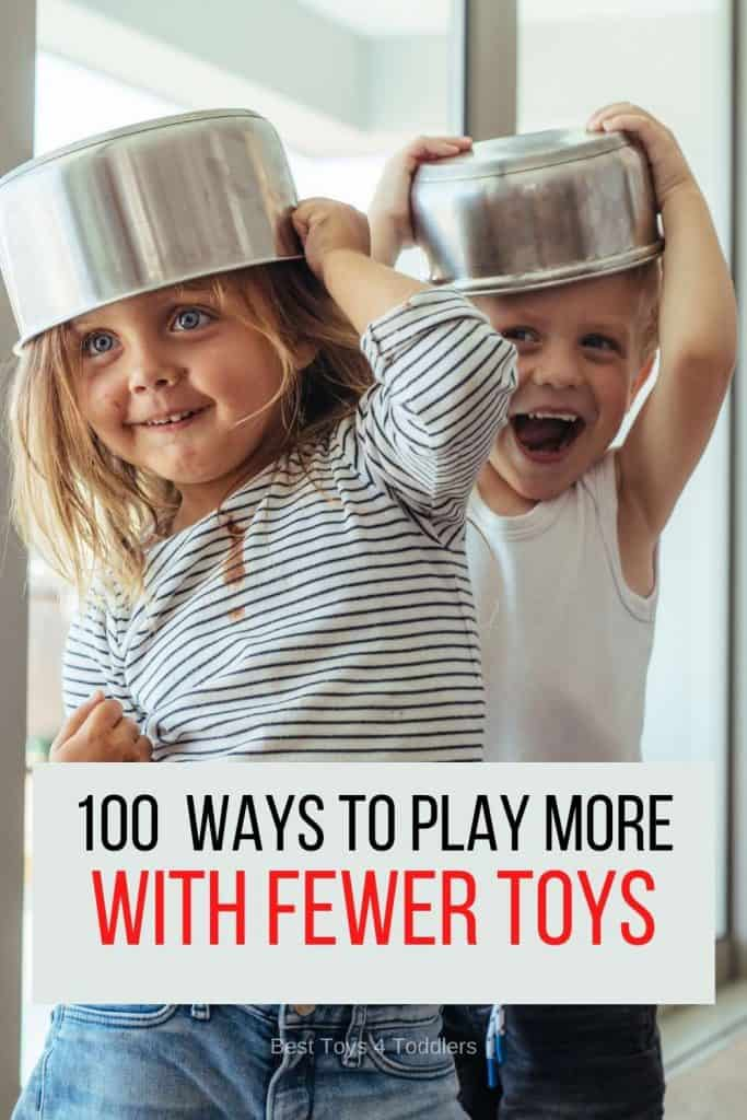 Over 100 Ways to Play More with Fewer Toys - Somehow, very often toys become more of the problem than a solution. Let us help you get more play more with fewer toys!