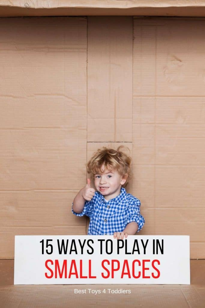 15 Ways to Play in Small Spaces - With no room for toys, you learn to play other ways - small space play ideas and how to play when there is no space for tons of toys!