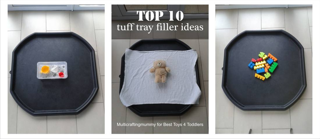 Top 10 Tuff Tray Filler Ideas, part of Less Toys. More Play. series