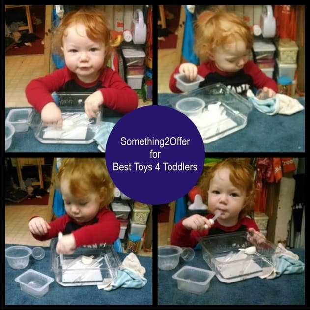 Simple Washing Station for Toddlers, a real life skill to practice with toddlers