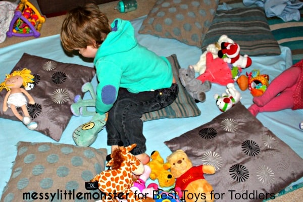 7 Ways to Play with a Blanket, part of Less Toys. More Play. series