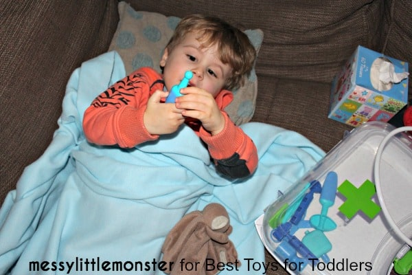 7 Ways to Play with a Blanket - play hospital