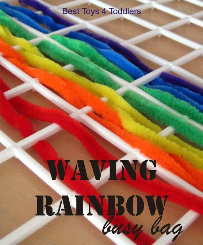Wave Me a Rainbow Busy Bag, simple fine motor activity for toddlers and preschoolers