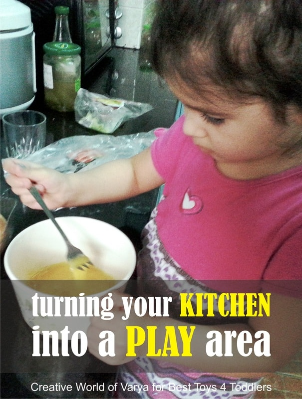 How to turn your kitchen into a play area? Part of Less Toys. More Play. series.