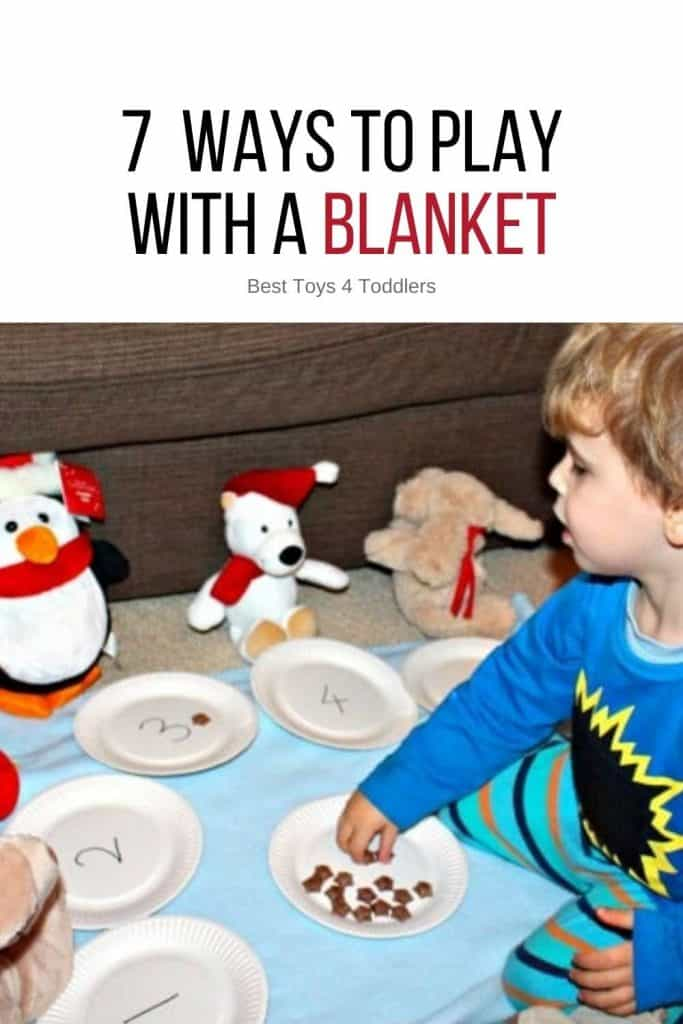 7 Ways to Play With a Blanket - blanket games for each day of the week!