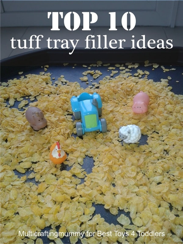 Top 10 Tuff Tray Filler Ideas to get kids started with independent playtime