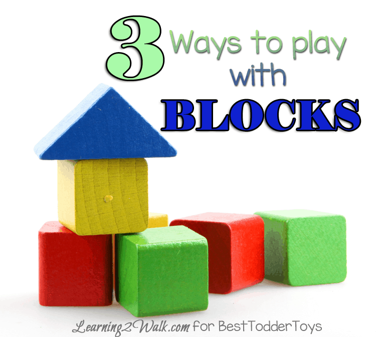 3 Ways to Play with Blocks, part of Less Toys. More Play. series