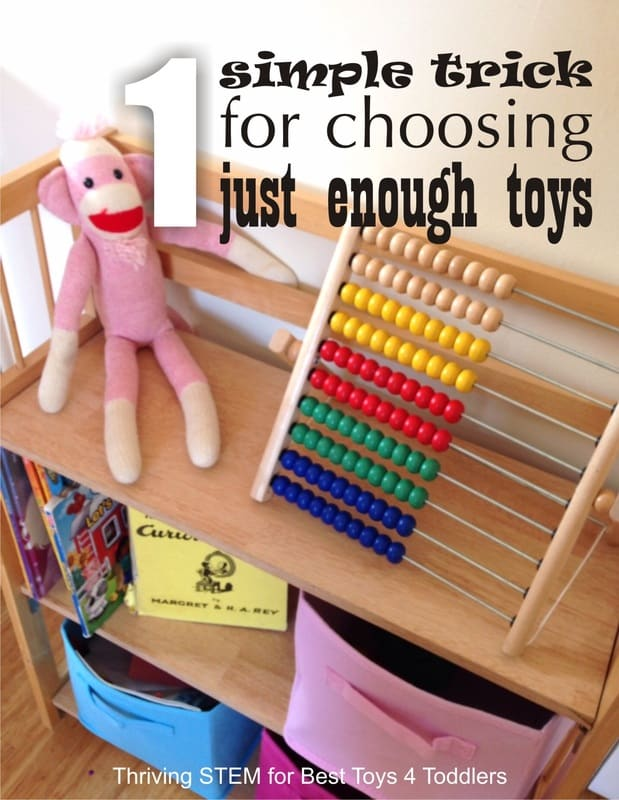 Choosing Toys For A Toddler : One simple tip to choose just enough toys