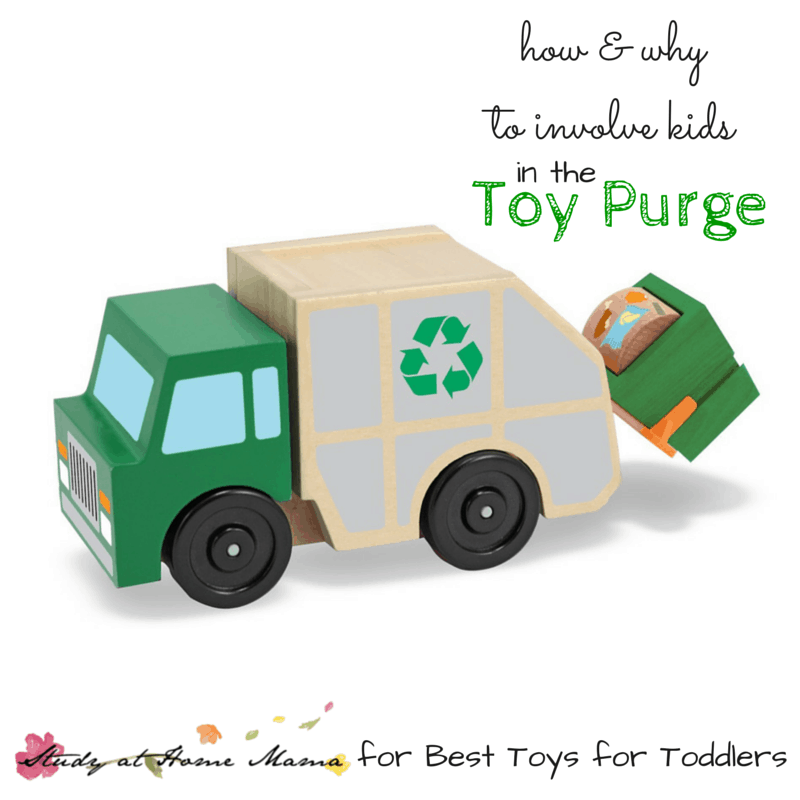 How and Why to Involve Kids in Toy Purge, part of Less Toys. More Play. series