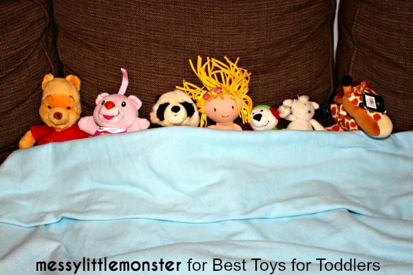 7 Ways to Play with a Blanket - Sing and act out nursery rhyme Ten in the bed