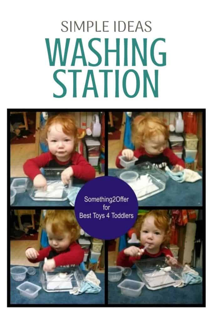 Simple Washing Station for Toddlers, - Encourage your curious toddler to practice life skills with a simple washing station in your kitchen.
