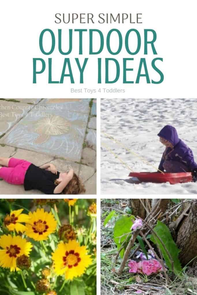 Super simple outdoor play ideas - spend more time outside with kids and connect as a family.