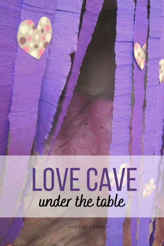 Valentines Day Love Cave under the table / desk - small spaces idea