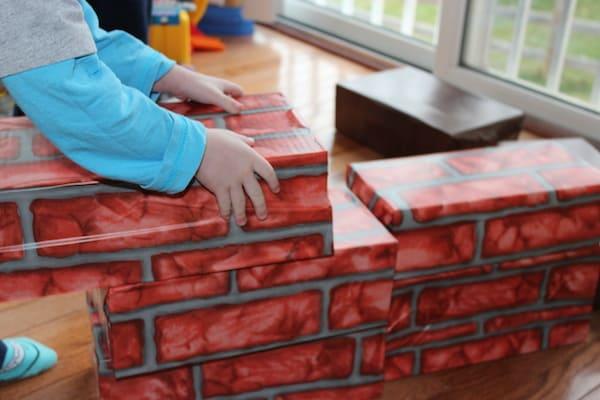 make your own cardboard building blocks