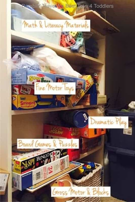 how to categorise toys before setting up a toy rotation system