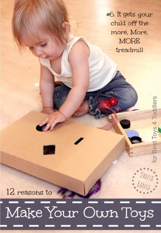 12 reasons why you should make homemade toys - Creating and building your own homemade toys can be a very handy and cheap way to get kids new toys, to keep the play all fresh and new