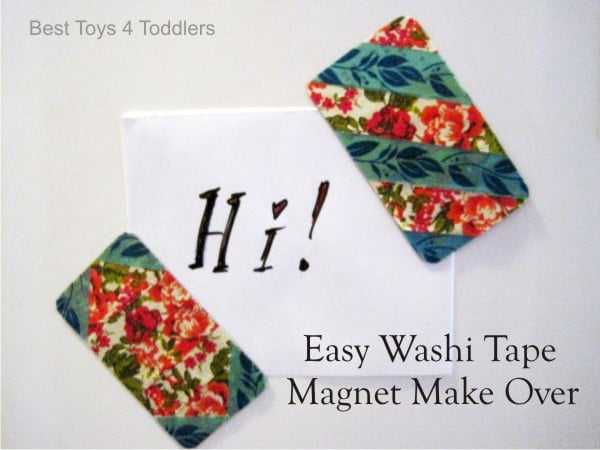 Dress up your fridge with these lovely and easy to make washi tape magnets.