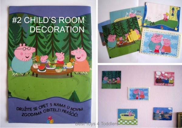 Repurposing workbooks or books for decoration in child's room