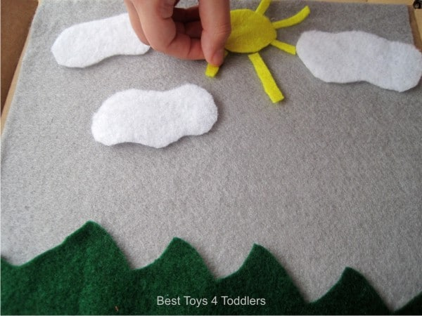minute to make scene for felt board