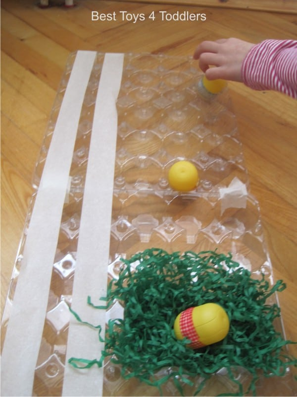 Using items from recycle bin to set up a simple Racing Egg game for kids
