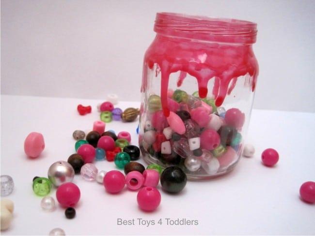 Glass Baby Food Jar turned into decorative storage used nail polish.