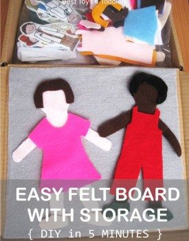Simple Felt Board with Storage
