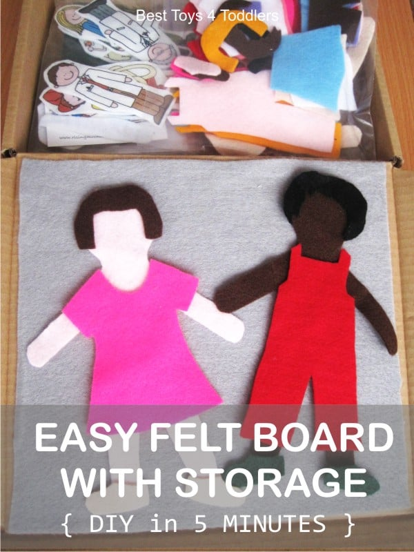 DIY Felt Board with Storage for Felt Sets