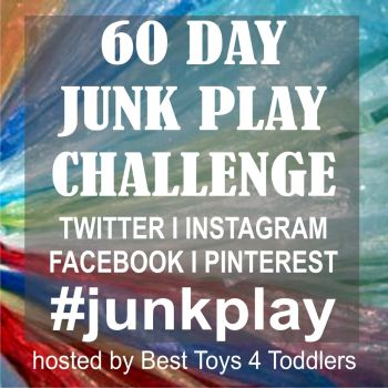 60 Day Junk Play Challenge - March / April 2015 - Everyday different medium from recycle bin - Join the fun on Twitter I Instagram I Facebook I Pinterest using #junkplay {hosted by Best Toys 4 Toddlers }