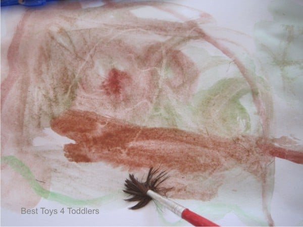 Watercolor Crayon Resist Easter Egg Painting with Toddler