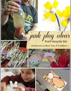 15 Junk Play Ideas from Recycle Bin
