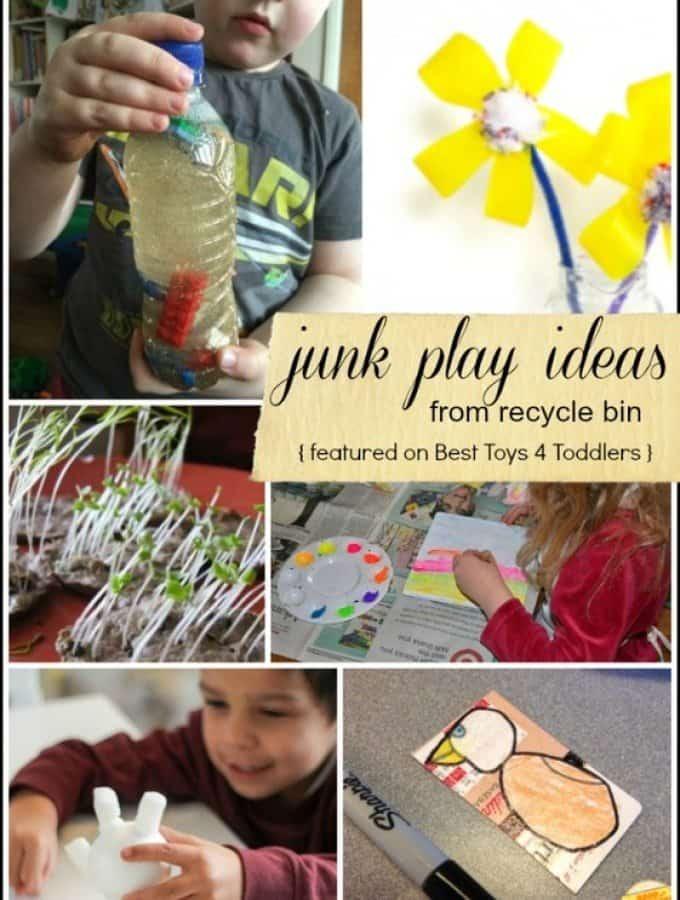 15 Junk Play Ideas from Recycle Bin - week 1 of #junkplay challenge