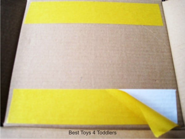 Simple way to attach felt board to a cardboard box and turn it into a felt board