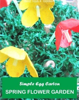 Simple Egg Carton Spring Flower Garden