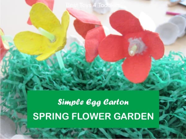 Play and plant a spring garden using egg cartons
