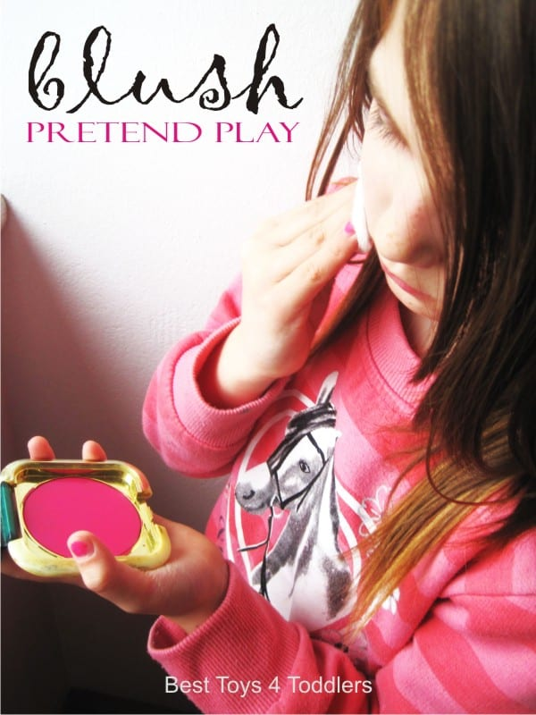 Pretend Play Blush - create this simple piece of make-up from your old pocket mirror, great for pretend play for little girls